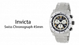 Эксклюзивное предложение: Invicta Swiss Chronograph 45mm Dial Stainless Steel Luminous Date Watch (4 colors) (2209 руб. вместо 3202 руб.)