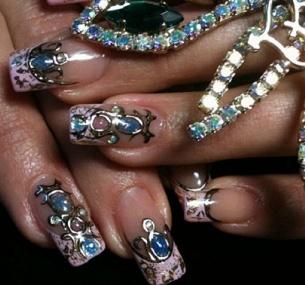 foto-dizajna-nogtej-zhidkie-kamni-7. фото дизайна ногтей жидкие камни.
