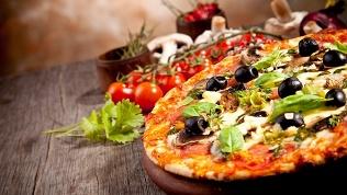 Пицца в кафе «Москвик»