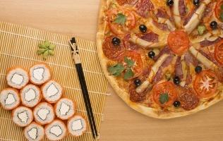 Заказ пиццы исуши-сетов