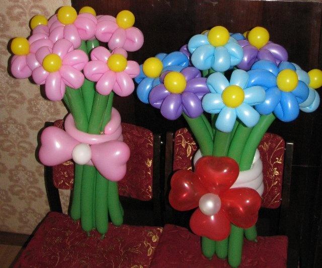 Как сделать букет из воздушных шаров своими руками