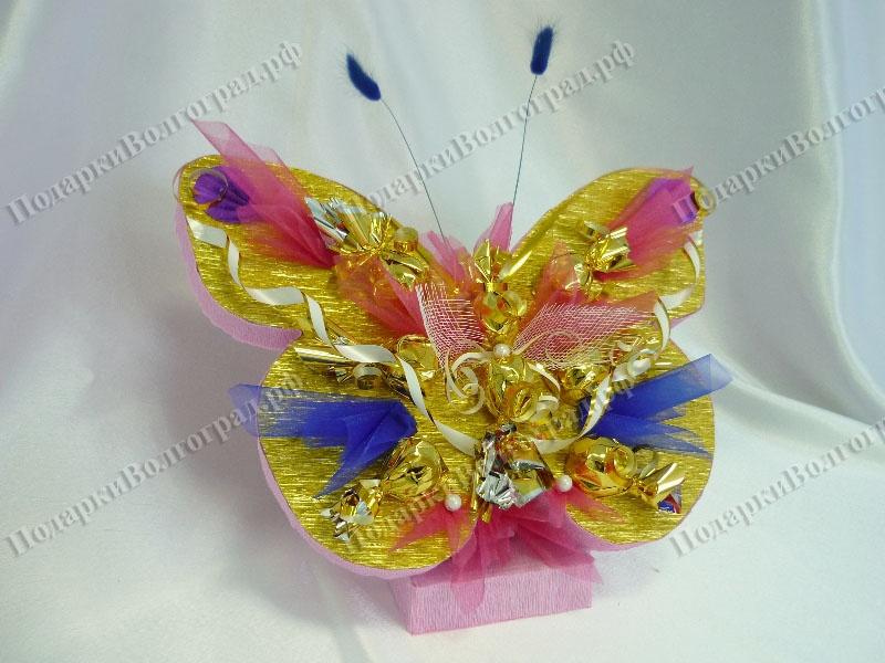 Бабочка из конфет своими руками фото 31