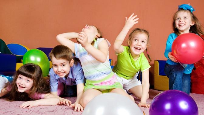 Конкурс для детей с воздушными шарами