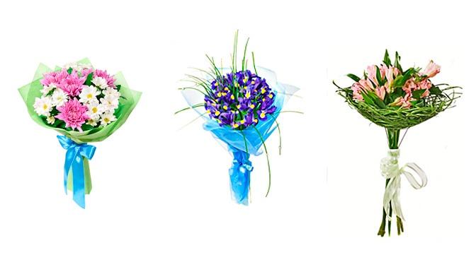 Как сделать букет из розы и хризантемы 690