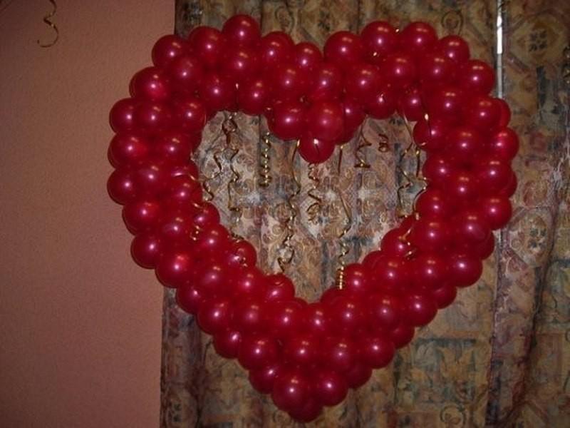 Сердце из шариков своими руками