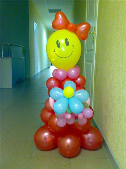 Композиции из воздушных шаров своими руками на день рождения