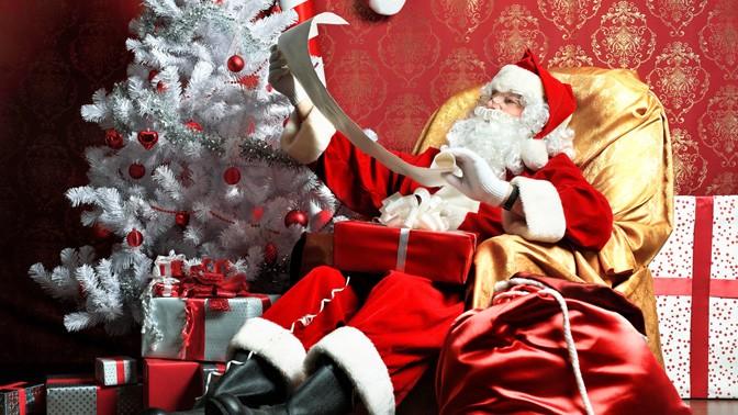 Санта дарит подарки играть
