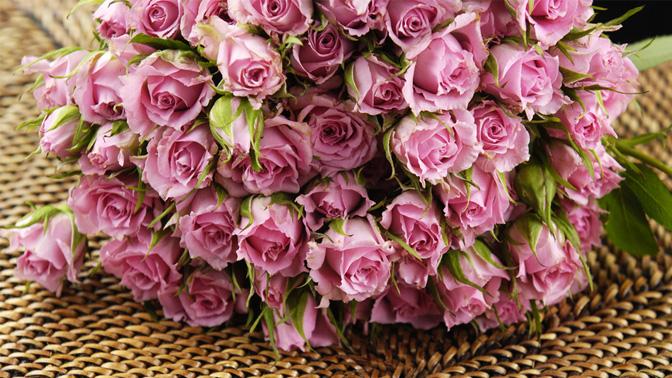 Изысканный букет цветов фото