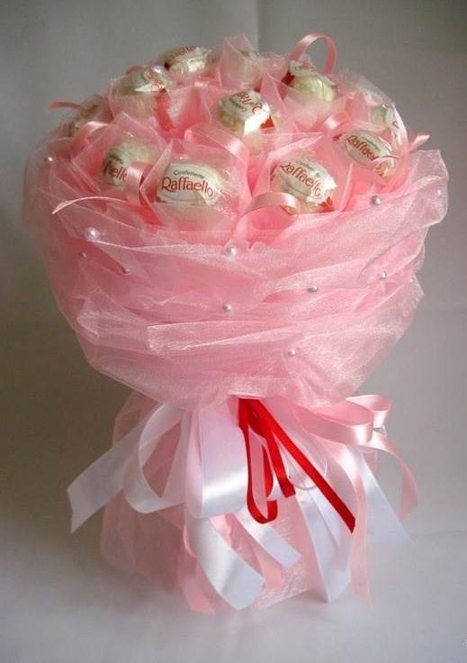 Букет из конфет своими руками пошаговое фото из рафаэлло