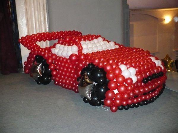 Как сделать машину своими руками из шаров