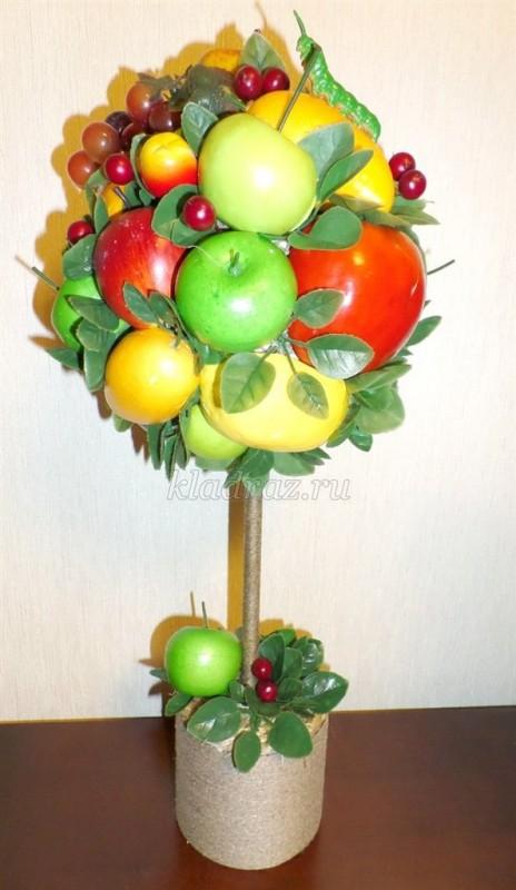 Топиарий из фруктов как сделать