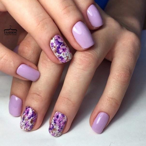 Фото маникюра в фиолетовых тонах