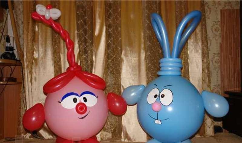 Как сделать смешариков из шаров своими