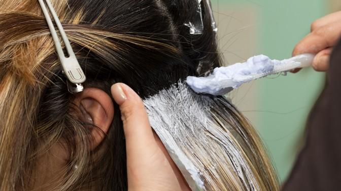Мелирование седых волос видео