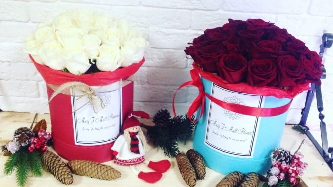 Цветы в коробке красноярск