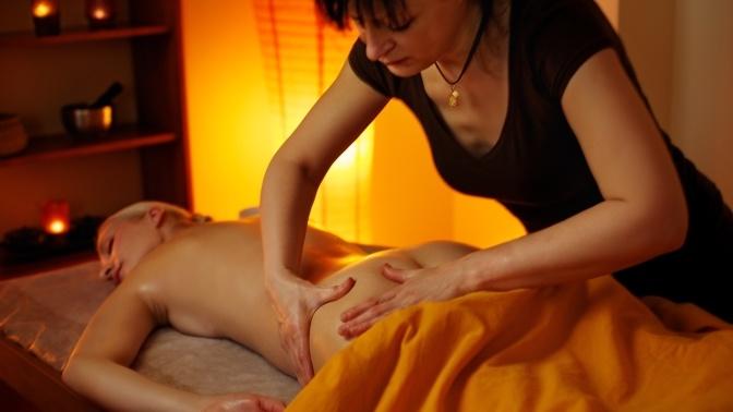 Видео секса во время массажа отличная