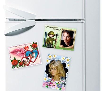 Магнитики на холодильник на 8 марта