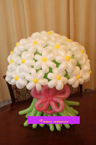 Букет цветов из надувных шаров