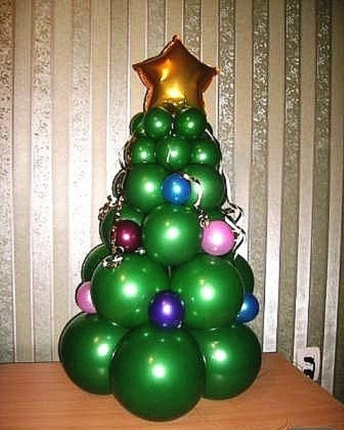 Как сделать новогодний шарик из воздушного шарика - Priminfo