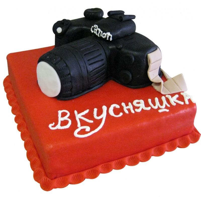 Торт-фотоаппарат на заказ