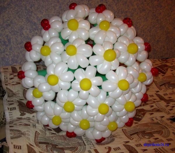 Как сделать букеты с воздушных шаров