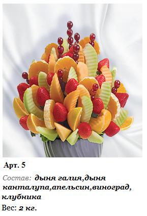 Как создать фруктовый букет