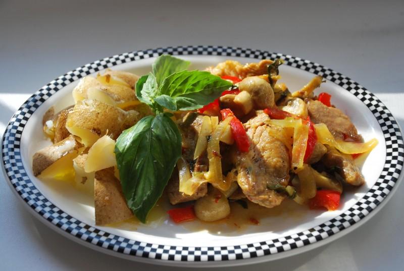 Блюда из свинины с овощами рецепт