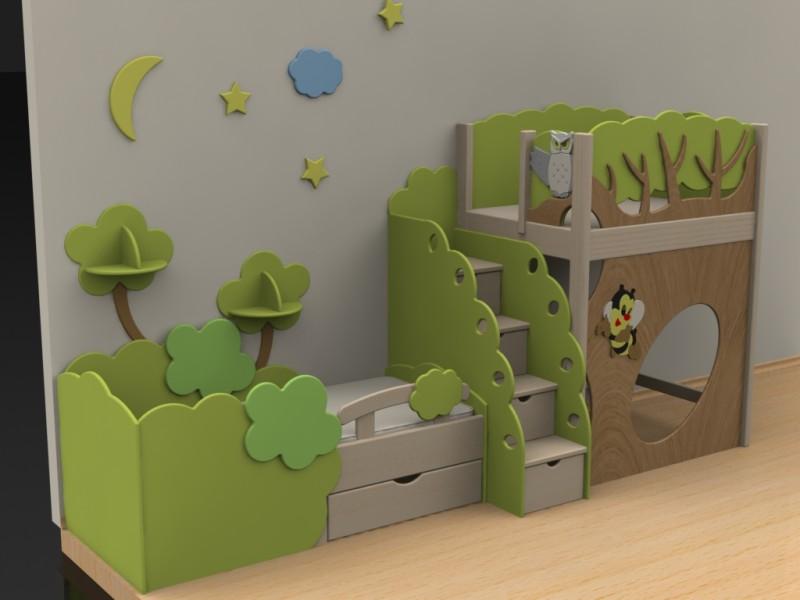Кровать чердак - мебель и предметы интерьера москва - доска .