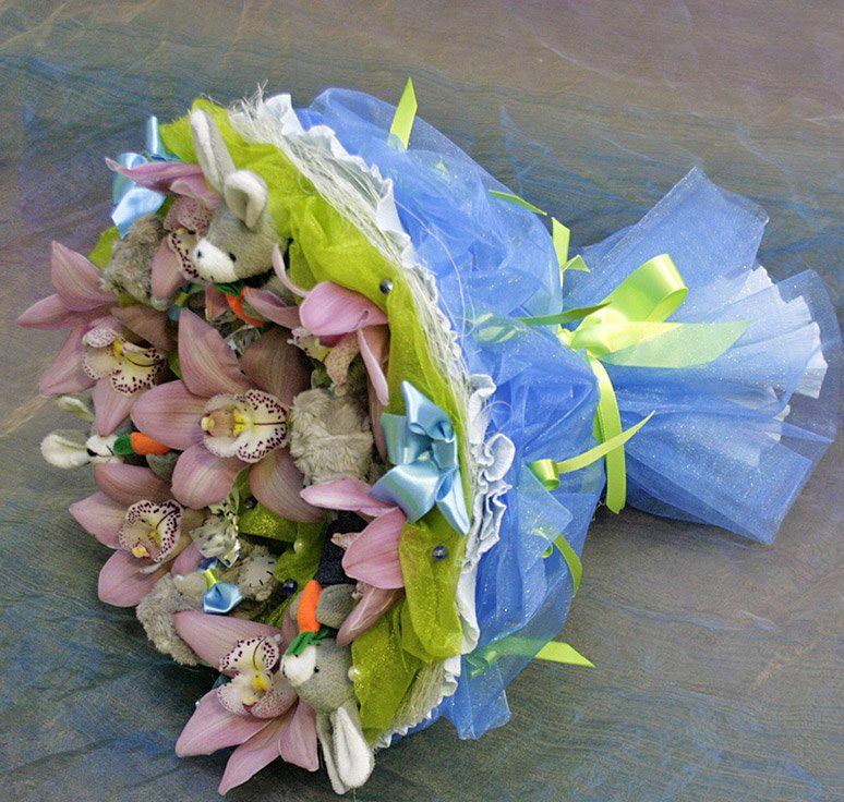 Букет из цветов своими руками из гофрированной бумаги своими руками 84