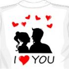 Купить майку I love you (12). увеличить футболку I love you (12)