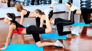 Занятия встудии фитнеса