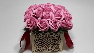 Букет роз измыла