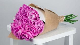 Букет из орхидей, роз