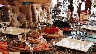 Ужин вкафе «Баклажан»