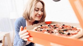 Пицца, бургер, пирог