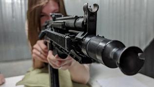Стрельба изоружия втире
