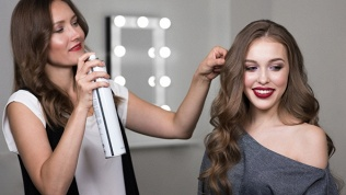Создание прически, макияж