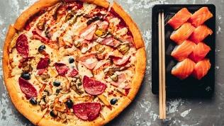 Пицца исеты изроллов