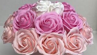 Букет измыльных роз