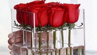 Розы встеклянной коробке