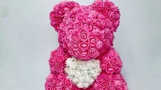 Мишка изфоамирановых роз