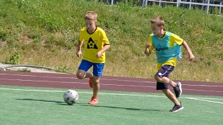 Занятия по футболу