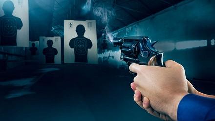Стрельба винтерактивном тире втире ILove Gun