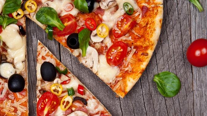 Большая пицца вмини-пекарне Charlotte