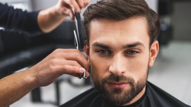 Мужская или детская стрижка, моделирование бороды всалоне красоты Golden People