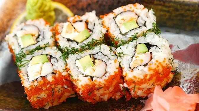 Всё меню японской кухни отслужбы доставки «Вкусные суши» соскидкой50%