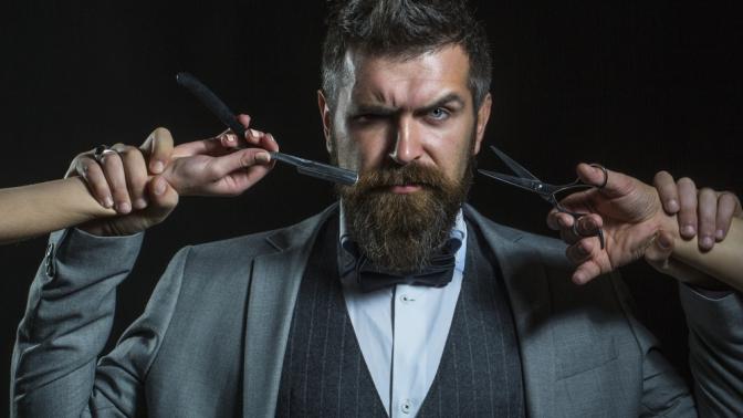 Мужская или детская стрижка, коррекция бороды вбарбершопе «Золотая молодежь»