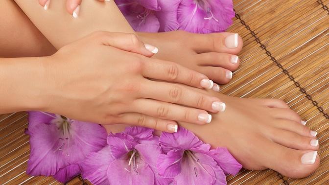 Маникюр ипедикюр спокрытием ногтей гель-лаком, укрепление ногтей биогелем либо наращивание ногтей всалоне красоты «Мервэй»