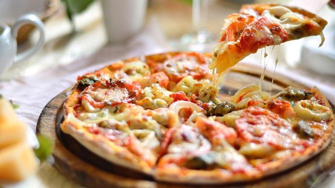 Пицца вкафе Diner`s соскидкой50%