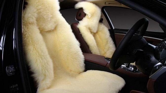 Меховые накидки изнатуральной овечьей шерсти для автомобиля